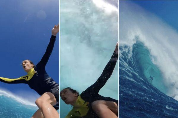 Dans le tube de Jaws avec Justine Dupont