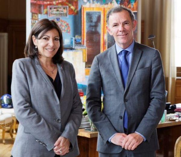 Anne Hidalgo, Maire de Paris et Eric Hélard, Conseiller de Paris