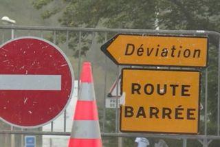 Route Littoral barrée
