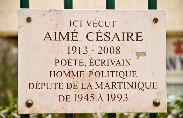 Plaque césaire 13ème arrondissement