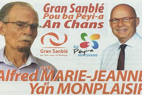 Alfred Marie-Jeanne et Yan Monplaisir