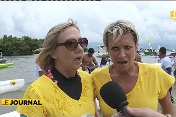 Marathon Polynésie 1ère Va'a : les lanternes rouges