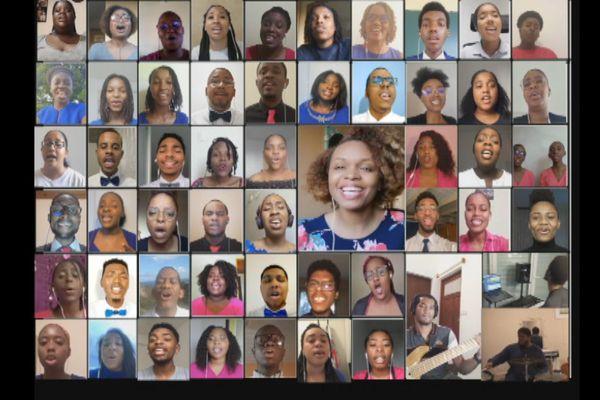 """60 choristes de la Guyane et des Antilles chantent pour briser la """"distanciation physique"""""""