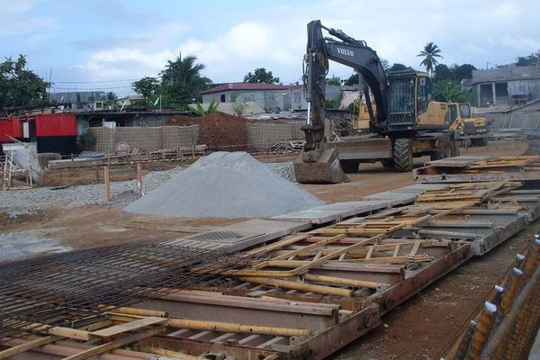 Rénovation du quartier de M'gombani à Mamoudzou.