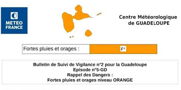 La Guadeloupe passe en vigilance orange