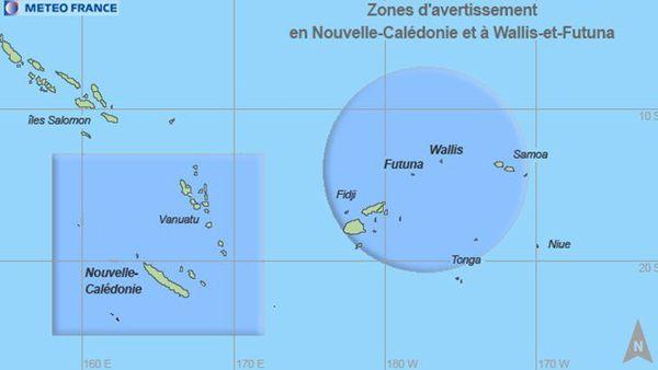 Zone de surveillance cyclonique de Météo France Nouvelle-Calédonie