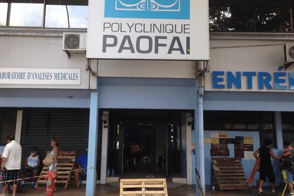 Clinique Paofaï : un piquet de grève installé à l'entrée