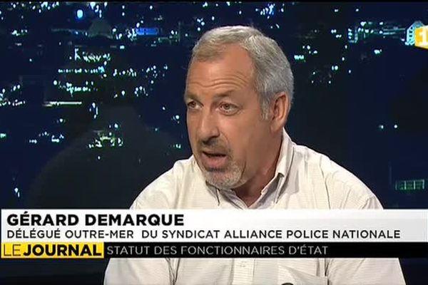 Gérard Demarcq, délégué général pour l'outre mer du syndicat Alliance de la police nationale invité du JT