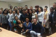 Les membres de l'Association de Jeunes de Guadeloupe