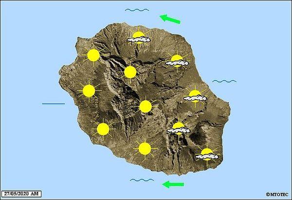 Carte météo 27 mai 2020