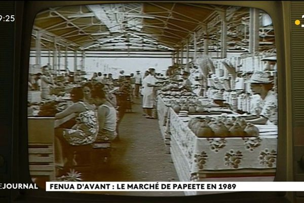 Polynésie d'antan : le marché de Papeete