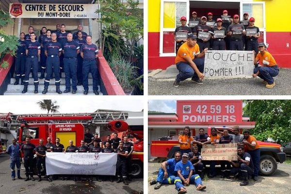 Solidarité aux pompiers du Mont-Dore agressés, janvier 2020