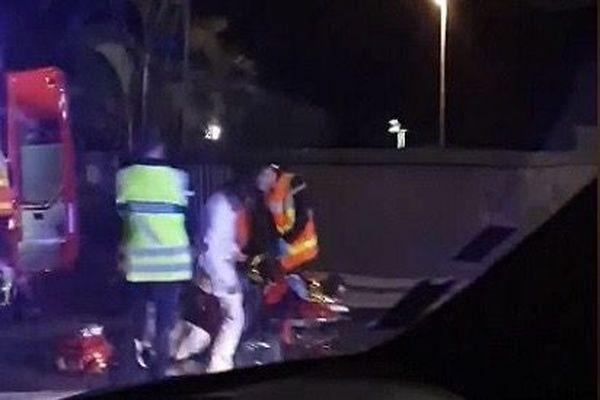 Accident mortel motard Sainte-Marie