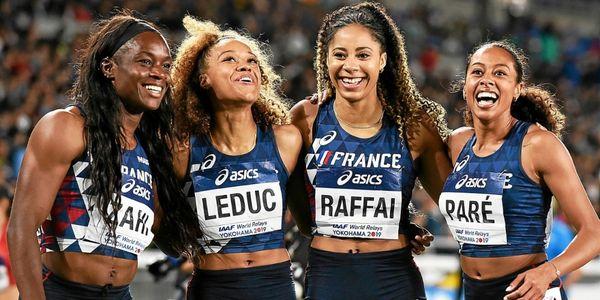 Le collectif relais tricolore féminin en 2019.