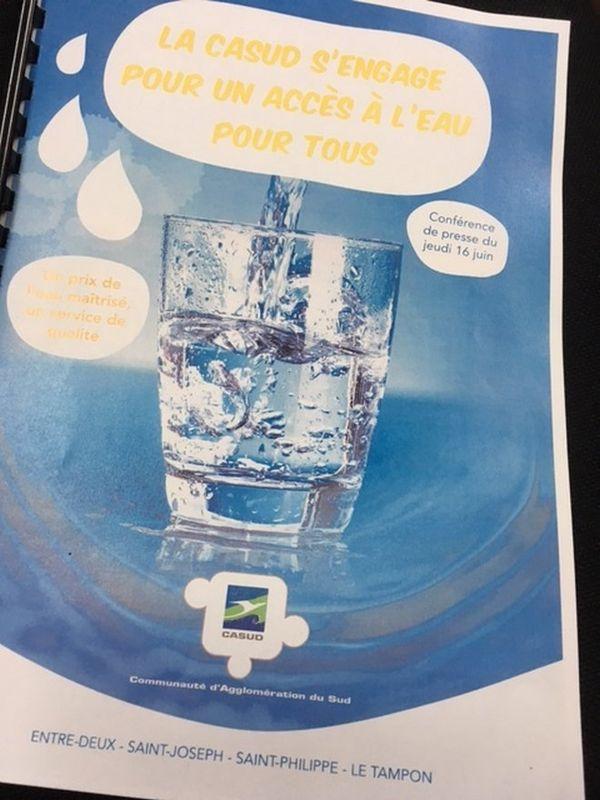 Affiche de la conférence de presse de l'eau