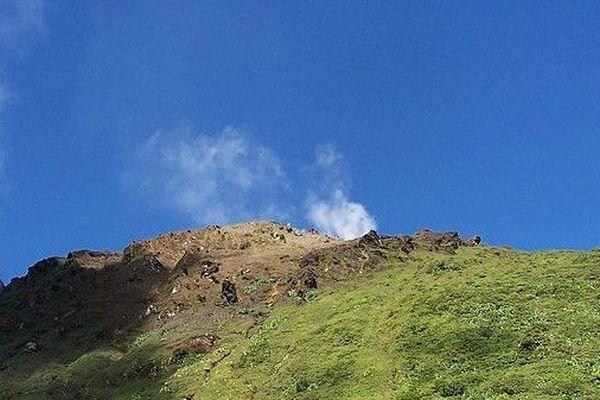 La Soufrière, vue du bas