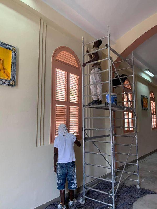 travaux de finalisation clocher Sainte-Anne