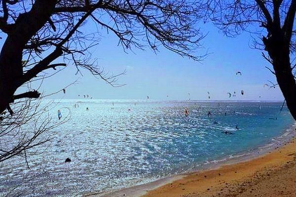Vent sur le lagon de La Saline