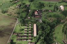 Vue aérienne de l'Habitation Leyritz à Basse-Pointe.