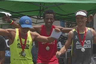 Le trio Izal, Aragaw et Poulain, vainqueur de la Tahitian Spartan Contest