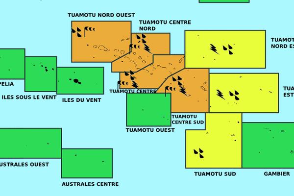Trajectoire météo dépression tropicale 04F - 02 12 2015