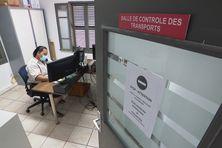 Activité pendant le reconfinement à Nouméa, dans une société d'ambulance, septembre 2021.