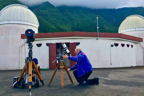 Astronome amateur, Pierre Thierry est venu de Toulouse pour assister à la nuit des Etoiles, à l'Observatoire des Makes.