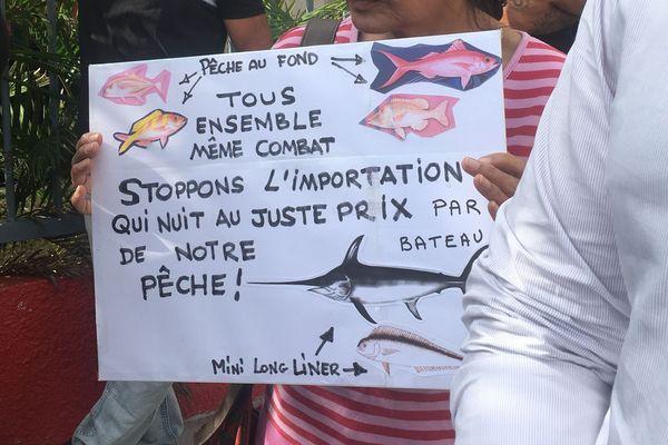 Pancarte pêche importée