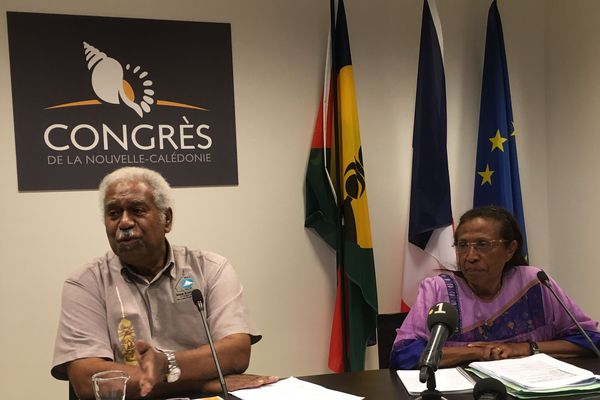 Bilan de la mandature 2019-2020 à la prsidence du Congrès, Roch Wamytan et Caroline Machoro-Reignier