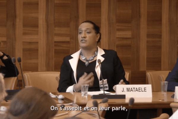 Joey Mataele à l'ONU à Genève