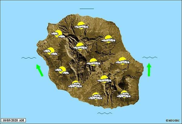 Carte météo 18 mai 2020