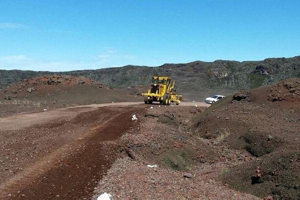 Travaux route du volcan