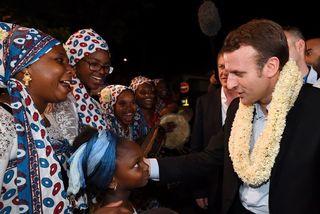 Emmanuel Macron à Mayotte dans le cadre de voyage de campagne le 26 mars 2017