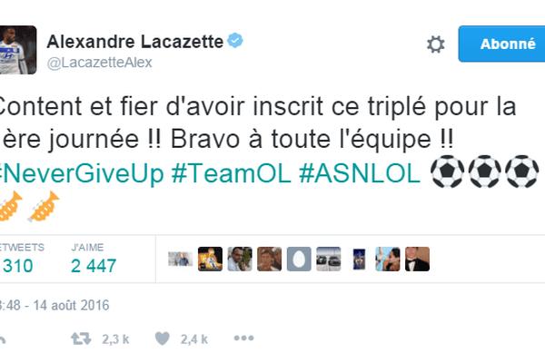 Tweet Lacazette