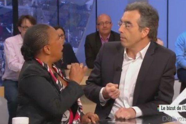 Echaneg tendu entre Christiane Taubira et Dominique Reynié