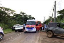 Les pompiers et gendarmes de Wallis sur les lieux de l'accident