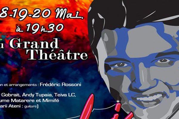 Affiche concert Elvis Presley