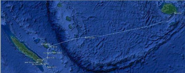 Projet de câble international entre la Calédonie et Fidji