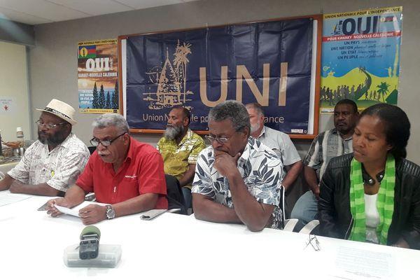 Absence lors des discussions à Paris, conférence de presse de l'UNI-Palika