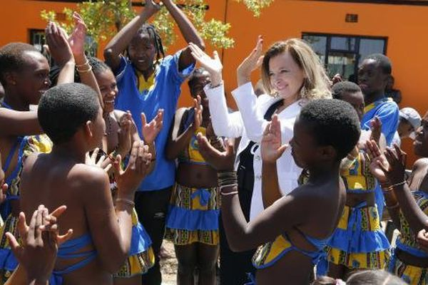 Danse de V Trierweiler en Afrique du Sud