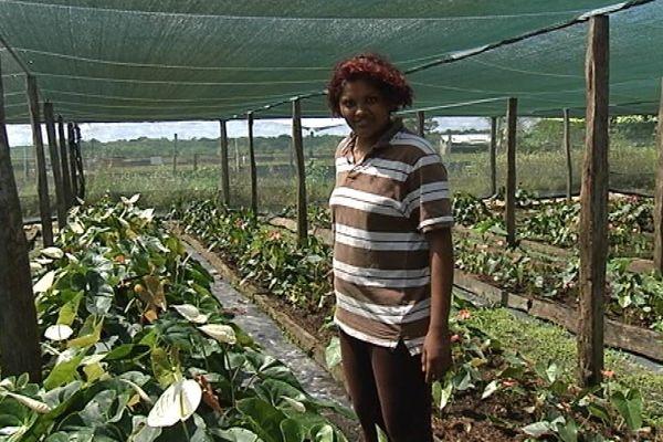 Dayana Balkissoon, productrice de fleurs