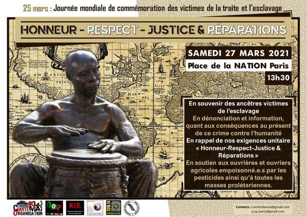 Journée de commémoration pour les victimes de l'esclavage