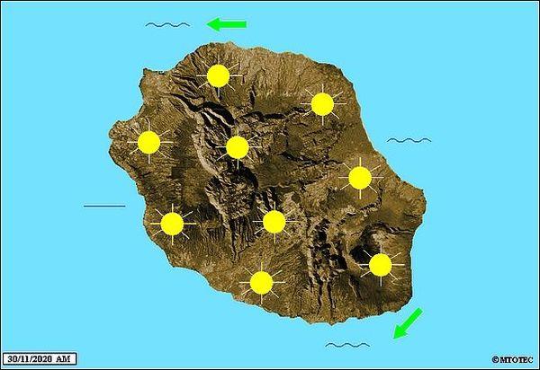Carte météo 30 novembre 2020