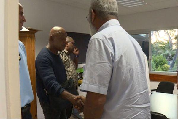 Médiation de l'Etat dans le dossier SLN Kouaoua, à Koné, le 16 août 2018