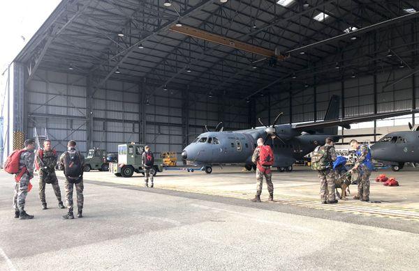 Annonce de l'exercice Croix du Sud, base aérienne de Tontouta, 18 mai 2018