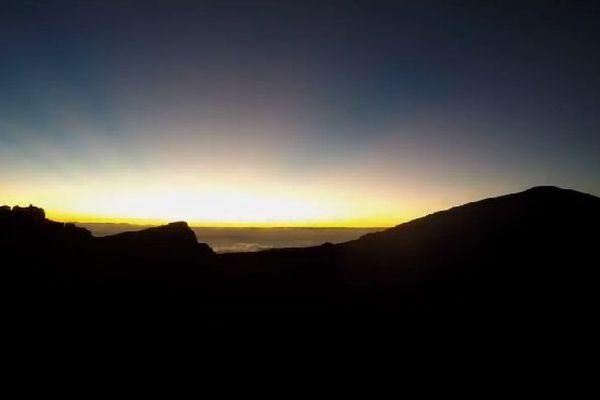 Levé de soleil sur La Réunion