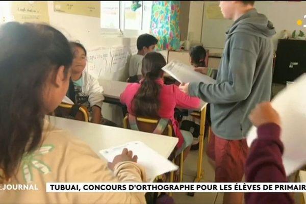Les élèves de Tubuai en piste pour le concours orthographe
