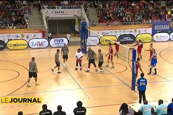 Océanias de volley ball, la sélection tahitienne s'incline face aux cagous