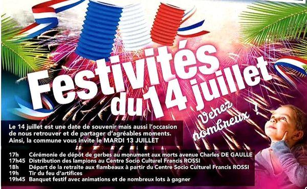 Festivités 14 juillet La Foa