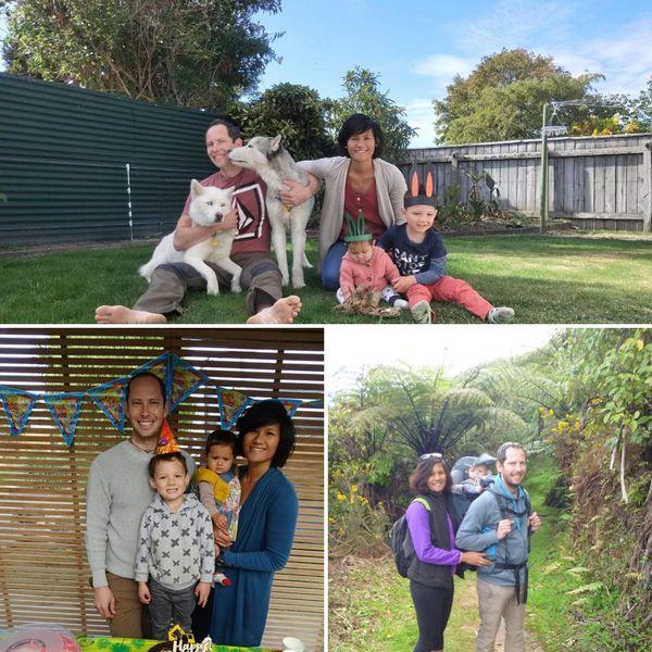 Les enfants du couple de Calédoniens sont tous les deux nés en Nouvelle-Zélande